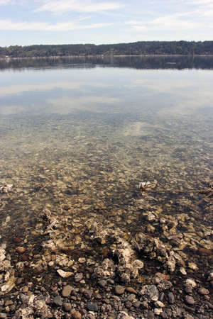 puget: Transparent waters of Inner Puget Sound Stock Photo