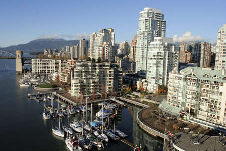 View of Yaletown and Burrard Bridge from Granville photo