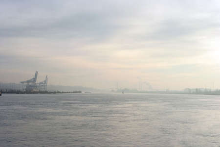 The port of Surrey on the Fraser River in Vancouver British COlumbia photo
