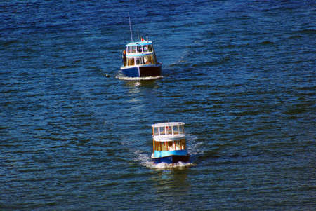 Transport Ferries off Granville Island on False Creek Inlet Vancouver British Columbia, sunny day photo