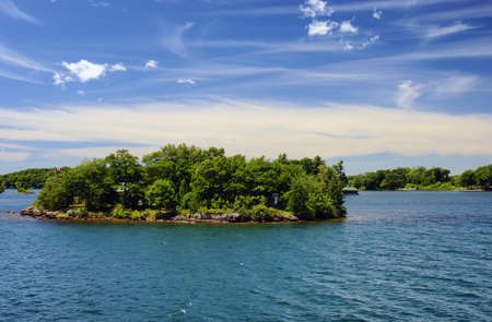 kingston: Thousand Islands National Park Ontario Canada near Kingston across from New York State, St,  Lawrence river