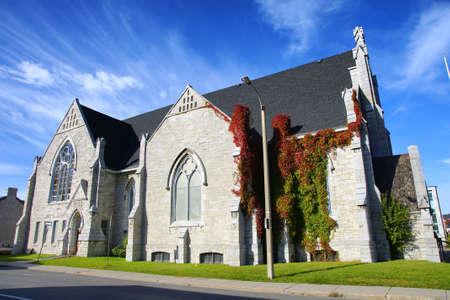 聖なる三位一体バプテスト教会キングストン オンタリオ州カナダ 19 世紀歴史的遺産の建物