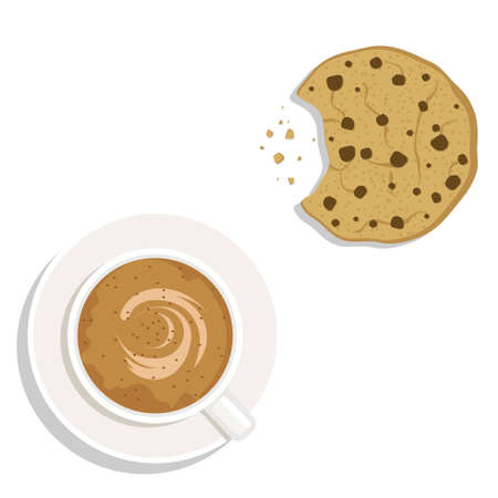 cookies: Coffee and cookie vector illustration