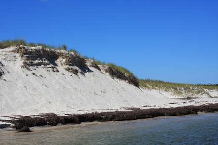 erosion: Dune erosion,hurricane damage Stock Photo