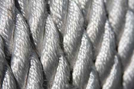 close up braided line coil