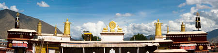 the golden roof of Ramoche temple photo