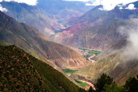 the gorge in tibet plateau photo