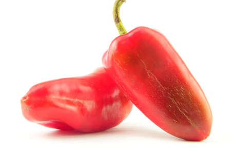 pimento: two red pimento with pure white background