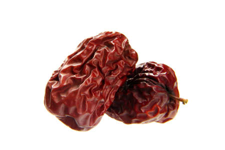 delicious dried red date isolated on white background