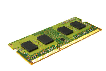 ddr3: one memory bank isolated on the white background Stock Photo