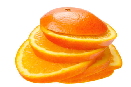 orange cut: orange cut in pieces isolated on the white background