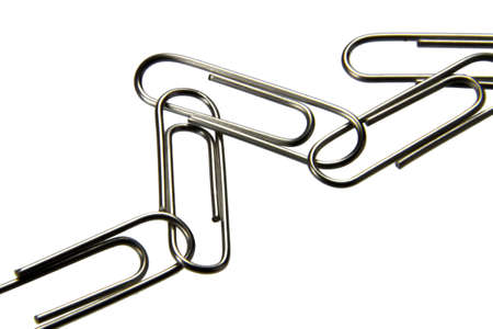 paper clips isolated on the white background photo