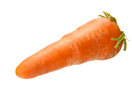 croci: one fresh carrot isolated on the white background Stock Photo