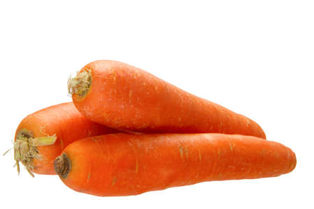 croci: fresh carrots isolated on the white background Stock Photo
