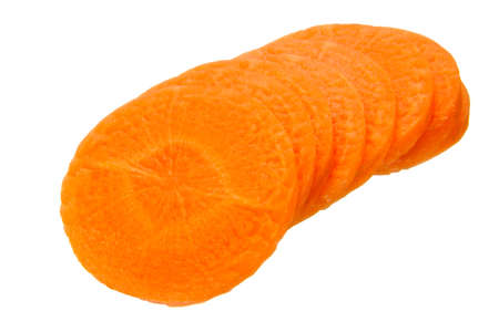 croci: carrot slices isolated on the white background