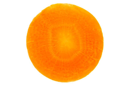 croci: one piece of carrot slice isolated on the white background