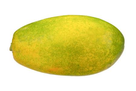 papaw: close up of fresh papaw isolated on the white background
