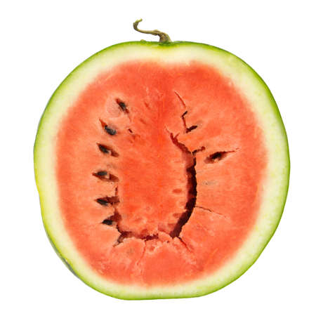 close up of fresh watermelon isolated on the white background photo