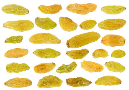 collection of raisin isolated on the white background photo
