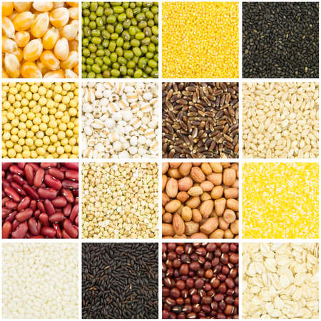 combining: background of many kinds of different grains