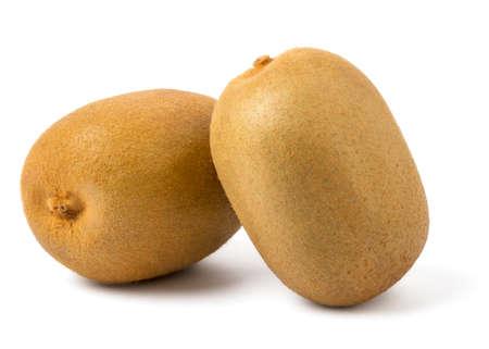 flesh: Fresh Yellow Flesh Kiwi Fruit Isolated on White Background.