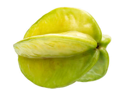 field depth: Fresh Carambola Isolated on White Background in Full Depth of Field