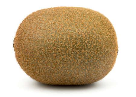 tiefe: Perfect Fresh Green Kiwi-Frucht getrennt auf weißem Hintergrund in voller Depth of Field