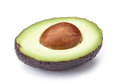 Perfect Avocado isolated on white background.
