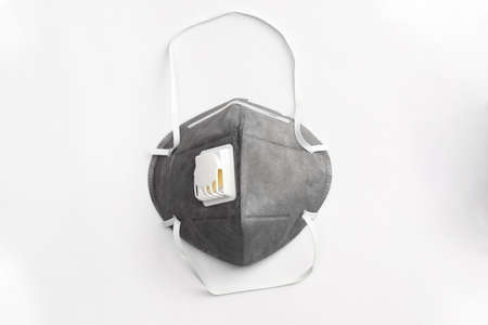 Anti virus mask with breathing valve. Banque d'images - 140325136