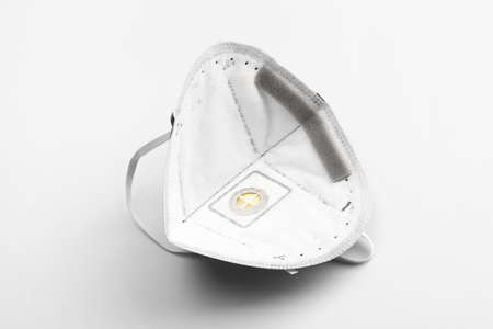 Anti virus mask with breathing valve. Banque d'images - 140325208