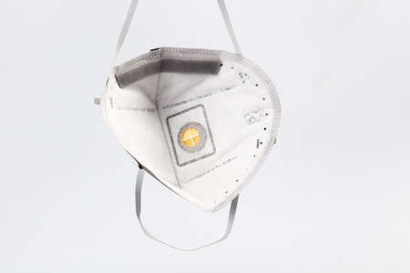 Anti virus mask with breathing valve. Banque d'images - 140325332