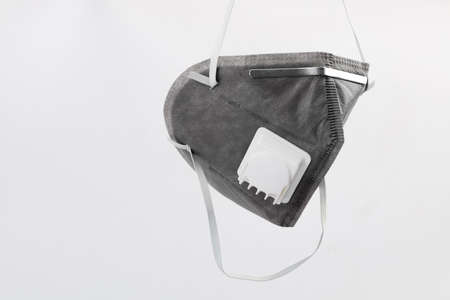 Anti virus mask with breathing valve. Banque d'images - 140325263