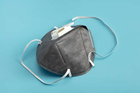 Anti virus mask with breathing valve. Banque d'images - 140326130