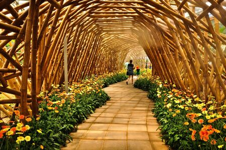Wooden arch with flowers Stock Photo - 10850191