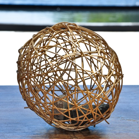 weave ball: Decorated weaved bamboo ball