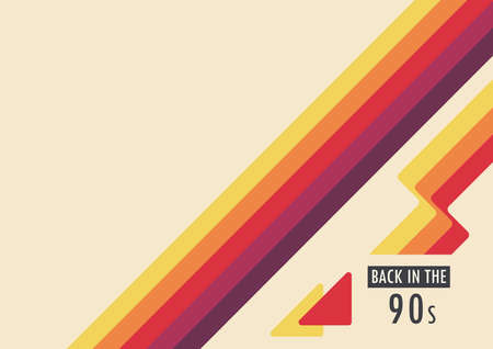Abstract retro background back in the 90s Vecteurs