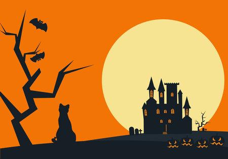 Vector illustration on a halloween theme