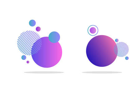 Set of abstract badges, icons or shapes