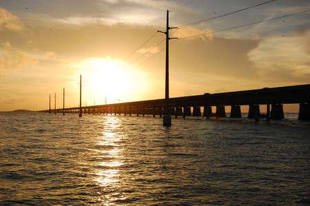 mile: Seven Mile bridge Marathon florida Stock Photo