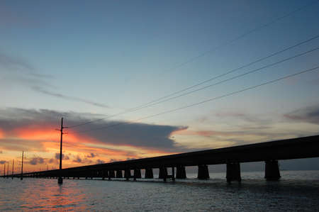 mile: Seven mile bridge  sunset