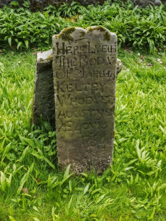 an old grave stone in ireland