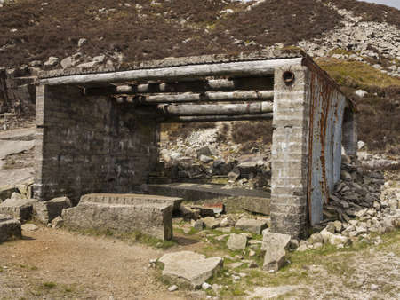 This is a hut from an old abandoned granite quarry in the mourne mountains ireland Stock Photo - 21177972