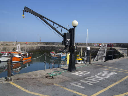 A crane in Annalong port in ireland