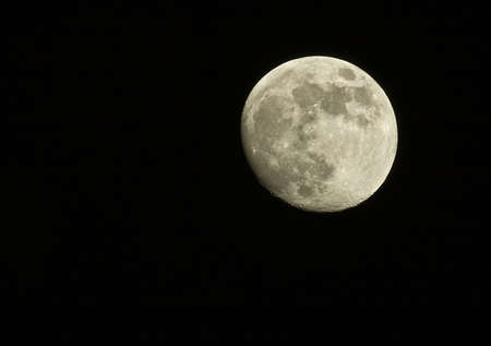 the full moon Stock Photo