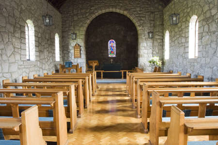 stained glass church: an old irish church
