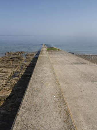 slipway: old concrete slipway in Annalong Ireland