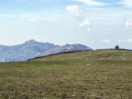 view of slieve binnian as seen from commedagh in ireland