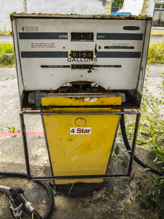 an old petrol pump in a long time closed down petrol station Stock Photo - 21820644