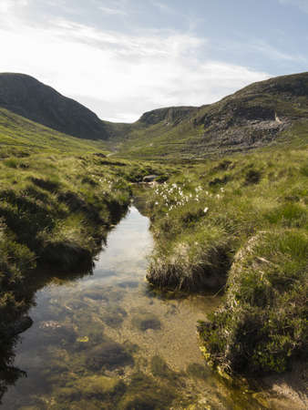famous area in the mourne mountains in ireland known as the hares gap also pictured is the trassey river