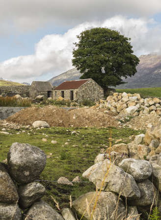 an od ruin at the foot of sleive Binnian in the mourne mountains north irelad